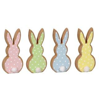 lustiger kleiner Osterhase Bunny als Silhouette Preis für 4 Stück