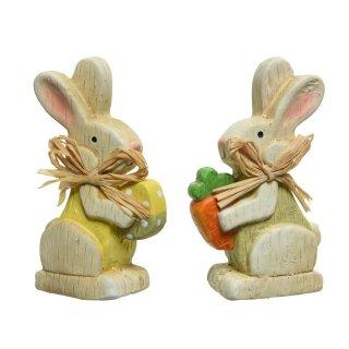 bd7a033e0a frühlingshafter Mini Deko-Hase Osterhase mit Ei/Möhre Preis für 2 Stück