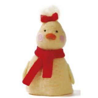 Eierwärmer Küken mit Schal