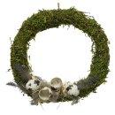 dekorativer Mooskranz Dekokranz mit Eiern und Federn als...