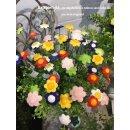 Mini Blütenstick flache Blüte 6 Farben sortiert