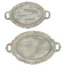 Tablett oval im shabby Landhaus-Stil in 2 verschiedenen Größen