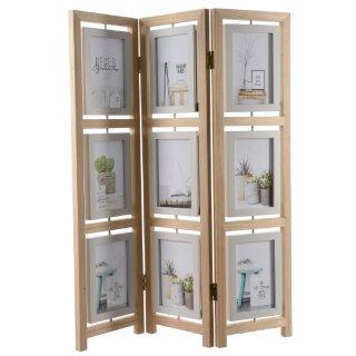 dekorativer Bilderrahmen für 9 Bilder als Paravent zum hinstellen aus Holz