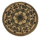 dekorativer runder Juteteppich ca. 90 cm Durchmesser