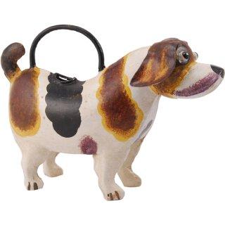 dekorative ausgefallene Deko-Gießkanne als Hund Metall handarbeit