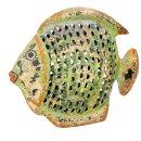 Metallfigur Dekofigur Fisch zum stellen in 3 möglichen Größen und 2 Farben