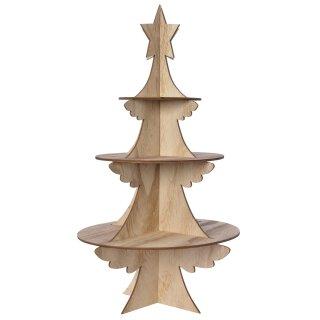 ausgefallener Weihnachts-Dekobaum aus Holz dreidimensional ideal für weihnachtliche Deko