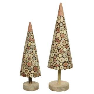 dekorativer abstrakter Holzbaum in 2 möglichen Größen