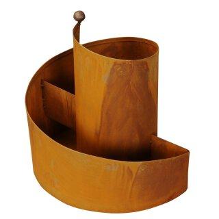 kleine dekorative Kräuter-Spirale Kräuter-Spindel Pflanz-Spirale Metall rostig Edelrost