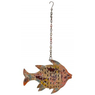 Metallfigur Fisch als Windlicht zum hängen und stellen( klein)