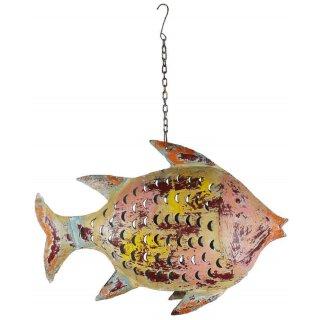 Metallfigur Fisch als Windlicht zum hängen und stellen( ganz groß)