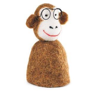 Eierwärmer Affe mit Brille