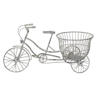 ausgefallenes dekoratives Garten-Deko Fahrrad aus Metall zum Bepflanzen mit Korb für Blumen