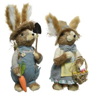 frühlingshafter putziger Deko-Hase Osterhase aus Gras Preis für 1 Stück