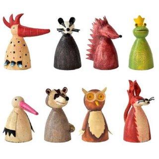 Zaunhocker Bauerhoftiere Metall bemalt verschiedene Motive Preis für 8-er Set