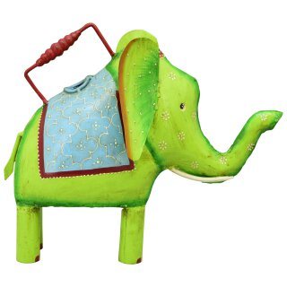 dekorative ausgefallene Deko-Gießkanne als Elefant Metall handarbeit