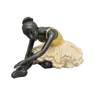 dekorative Dekofigur Ballerina mit Tütü sitzend
