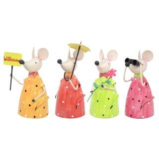 lustiger Zaunhocker Maus verschiedene Motive Preis für 1 Stück