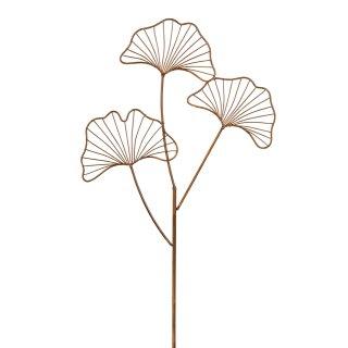 dekorativer ausgefallener Gartenstecker Gingkoblatt in 2 Varianten