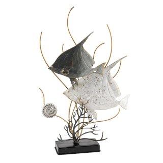 dekoratives filigranes Dekoobjekt zum stellen aus Metall Motiv Fische