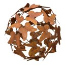 dekorative Deko-Kugel Garten-Kugel Schmetterling Metall...