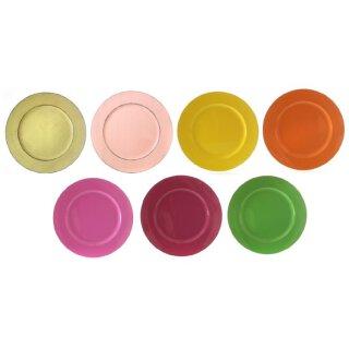 dekorativer Teller Dekoteller Platzteller rund farbig glänzend groß ca. 33 cm Preis für 2 Stück