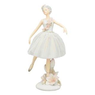 dekorative zauberhafte Dekofigur Ballerina mit Tüll - Tütü und Blumenranke