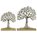 dekoratives Deko-Objekt Baum Puri aus rauem Aluminium auf...