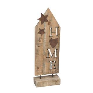 dekorativer HOME Ständer aus Holz in vintage shabby Optik