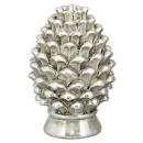 dekorativer Pinien-Zapfen Deko-Zapfen altsilber in...