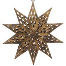 dekorativer Anhänger Stern Metall antik bronzefarbig matt dreidimensional bauchig