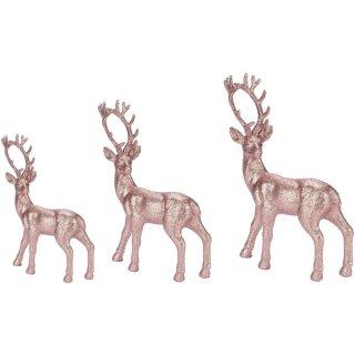 trendiger dekorativer Glitzer - Hirsch Weihnachtshirsch in rosa