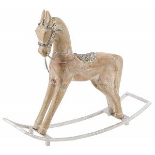 dekoratives Schaukelpferd Deko-Pferd aus Holz in shabby Vintage Optik