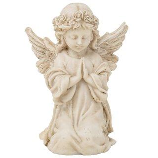 geschmackvolle Grabdeko Engel kniend und betend