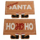Kokos Fussmatte mit Nikolausschuhen HoHoHo oder Welcome...