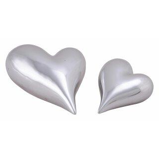 Herz silber Keramik