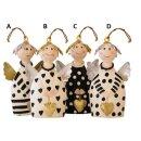 putziger Baum-Anhänger kleiner Engel Lotta mit Herzchen und Flügelchen Metall handbemalt