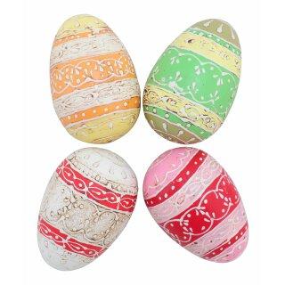 bemaltes Holz Ei Preis für 4 Stück