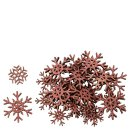 dekorative weihnachtliche Streudeko Tischdeko Basteldeko Schneeflocke Eiskristall mit Glitzer oder cremeweiß-perlmutt