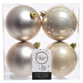 4er Set Kugelmix 10 cm PVC perle Weihnachtskugeln Baumschmuck bruchfest Christbaumschmuck