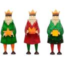 dekorative Dekofigur König zu stellen mit Krone Metall handbemalt