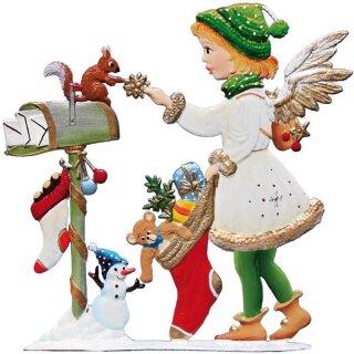 Wilhelm Schweizer Zinnfigur Engel mit Weihnachtsstrumpf Jahresengel 2015