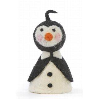 Eierwärmer Pinguin mit weißer Fliege