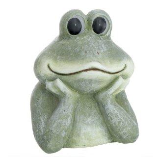 originelle Dekofigur Frosch als Büste Keramik bemalt 2 Größen