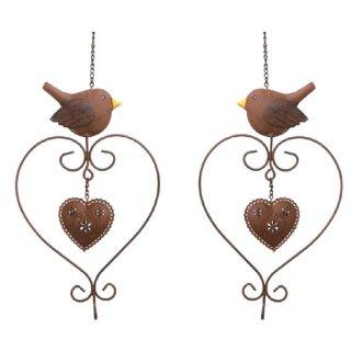 Meisenknödelhalter Vogel mit Herz Preis für 2 Stück