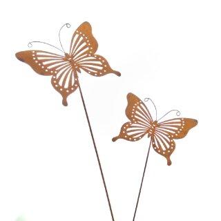 dekorativer Gartenstecker Schmetterling Preis für 2 Stück