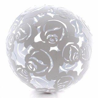 dekorative Metall- Kugel ausgestanztes Rosenmotiv