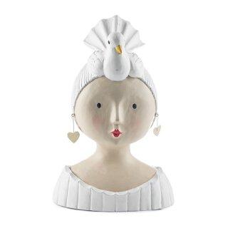 Ladykopf Dame mit Taube als Hut
