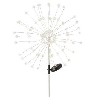 dekorative solarbetriebene LED Stableuchte warmweiß als LED Strahlenstern mit 90 LED´s