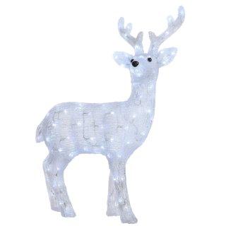 große dekorative LED Leuchte als Rentier Hirsch mit Blinkfunktion150 LEDs kaltweiß  für innen und außen